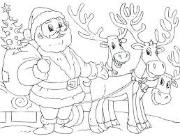 Santa Claus Coloring Pages To Print Picture Of A Smiling Santa