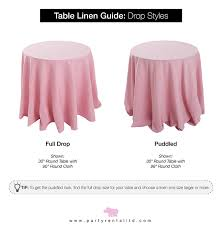 party al ltd the ultimate guide to table linen sizes