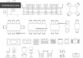 Home Design Pretty Dining Table Cad Block Home Design Dining
