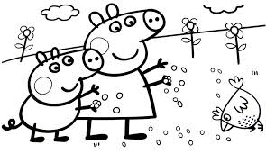 13 peppa pig printable coloring pages for kids. Peppa Pig Coloring Pages Coloring Rocks