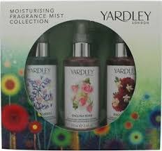 yardley moisturising fragrance mist gift set 3 x 100ml english bluebell english rose english dahlia