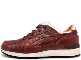 asics x packer shoes x j crew gel lyte iii oxblood leather the 1907 collection