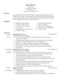 Sample Resume For Mechanic Industrial Mechanic Resume Mechanic Me