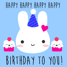 Happy Birthday Cute Images Cute Rabbit Birthday Card Free Happy