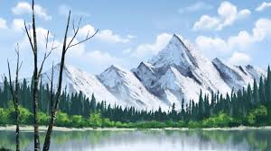 bob ross style landscape painting