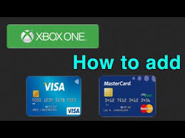 xbox one how to add a credit debit card