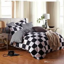 black and white grid bedding set brief duvet cover bed set single double queen king size kids bed sheets bedlinens full duvet covers bedroom linen sets from