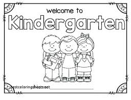 Coloring Page For Kindergarten Coloring Page Printable