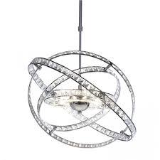 dar lighting eternity 10 light modern crystal ceiling light polished chrome