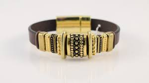 brown leather bracelet wine country jewelry