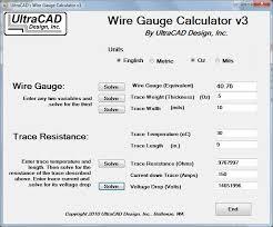 Wire Resistance Chart Ultracad Design Wire Gauge Calculator