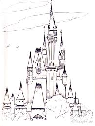 Small Picture frozen cinderella castle Free Printable Castle Coloring Pages