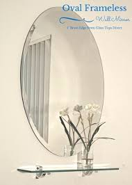 glass tops direct oval wall mirror with beveled edge bathroom unframed glasstopsdirect ripoff
