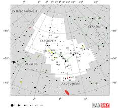 What Is A Star Chart Cassiopeia Constellation Facts Myth Star Map Major Stars