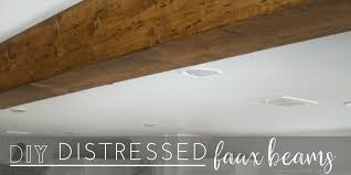 how to make diy distressed faux beams