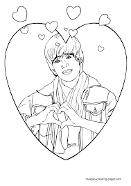 Small Picture Printable Coloring Pages Justin Bieber Maelukecom