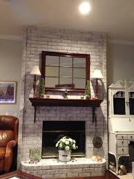 painted stone fireplace whitewashing brick fireplace how to paint brick fireplace white