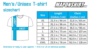 Unisex T Shirt Size Chart Uk Shirt Sizes Chart Us Coolmine Community School