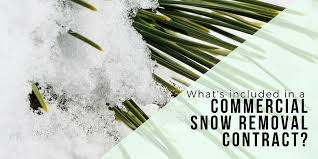 What Does A Commercial Snow Removal Contract Include