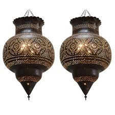 large moroccan brass hanging lamp moroccan pendant lighting and