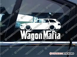 LOW Audi 80 B3 WAGON MAFIA Lowered car sticker Decal