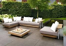 wooden garden furniture sets garden furniture set wood design light grey pads white cushion wooden garden