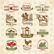 Label Design Free Vintage Farm Labels Design Vector Illustration Of Calendars Layouts