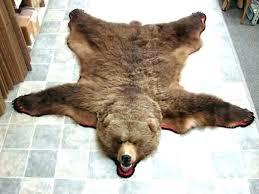 faux bear skin rug with head real rugs moose r us taxidermy brown ck kids fur