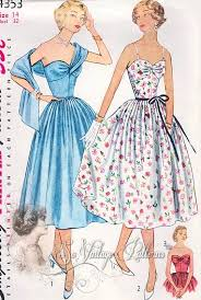 1950s Dress Patterns Magnificent 48s Breath Taking Evening Cocktail Party Dress Pattern 48 Style