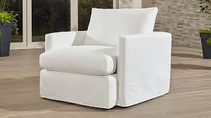 outdoor upholstered furniture. lounge ii petite outdoor slipcovered 360 swivel chair upholstered furniture