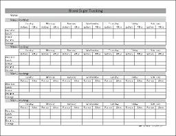 Printable Blood Sugar Log Chart Glucose Tracking Tracker Techbet Co