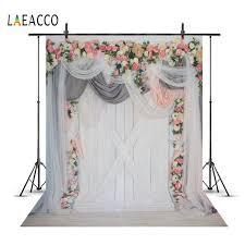 Wedding Flower <b>Backgrounds</b> Wreath Curtain <b>Gray</b> Wooden Board ...