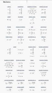 fluid mechanics cheat sheet physics equations fluid mechanics thermal atomic nuclear