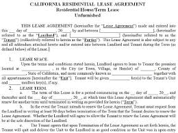 residential lease agreements california california lease agreement template california lease agreement