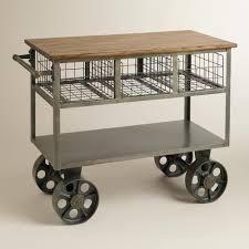 Vintage Metal Kitchen Cart Antique Mobile Kitchen Island Carts Orchidlagooncom