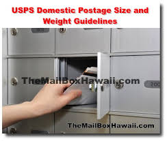 Usps Domestic Postage Size And Weight Guidelines The
