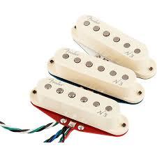 fender n3 noiseless stratocaster pickups set of 3 white covers hidden seo image