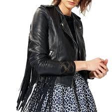 womens leather fringed jackets suede fringe jacket vintage small interstate