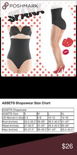Assets Shapewear Size Chart Spanx Black Remarkable Results High Waist Panties Transform