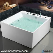 2017 new acrylic square shape bath tub with jetted whirlpool massage function