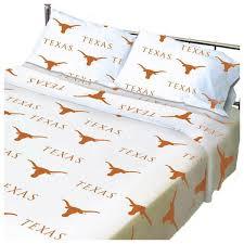 ncaa texas longhorn collegiate twin x long bed sheet set