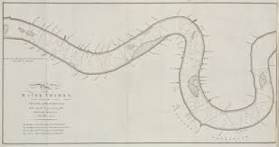 Chart Showing The Depth Of The River Thames In London C1750