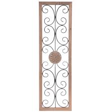 rectangle with swirls medallion metal