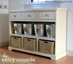 entry furniture storage. Build A 3 Drawer Open Shelf Simple Entryway Console. Would Be Cute In The Kitchen As Well Or Mud Room Entry Furniture Storage