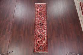 red oriental gharajeh wool hand knotted affordable persian runner rug 9 2 x2 2 southwestern hall and stair runners by rugsource inc