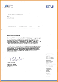 5 Work Certificate Example Hr Cover Letter