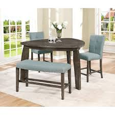 counter dining set gray 4 piece counter height table dining set furniture counter height dining
