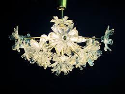 Floraler Sputnik Kronleuchter 70er Jahre Hollywood Regency