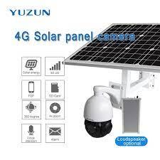 3g 4g solarbetriebene ip kamera mit sim karte 360 grad outdoor  überwachungskamera drahtlose überwachungskamera|Surveillance Cameras