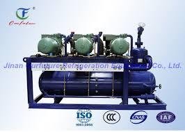 compresor refrigeracion. unidad paralela 380v 3p 50hz del compresor de la refrigeración tornillo bitzer refrigeracion